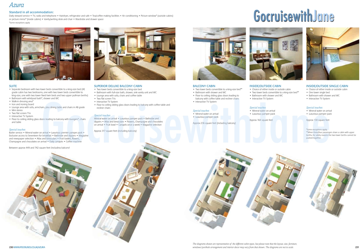 Po cruises 20122013 deck plans azura oceana baanklon Image collections