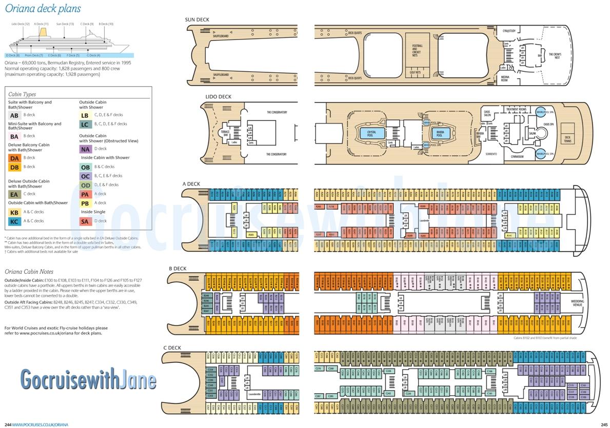 Po cruises 20122013 deck plans ventura baanklon Choice Image