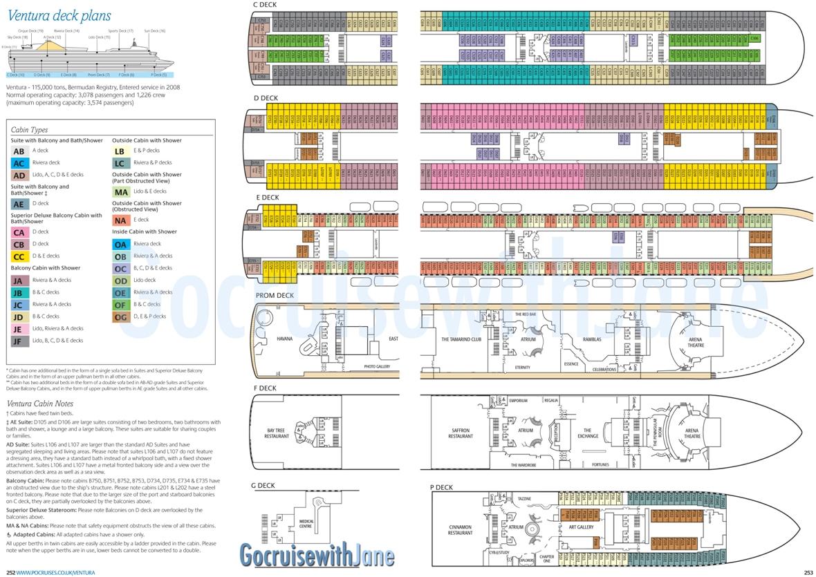 cabin plan of ventura