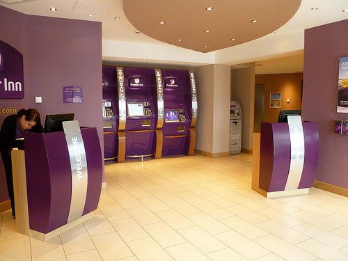 The UK's largest hotel chain, Premier Inn, now offers 'speedy check-in kiosks' at several of its larger hotels, which aim to reduce check-in time to under a minute.